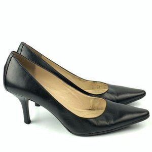 Calvin Klein heels size 5.5 Dolly Black pointy toe